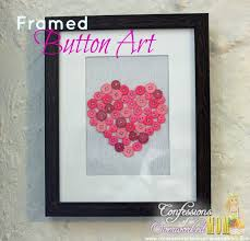 simple home decorating ideas framed button art