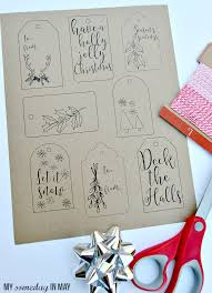 free printable christmas gift tags ella claire