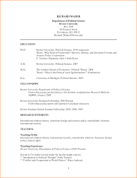 Graduate Student Resume Examples by Writing Curriculum Vitae For Graduate