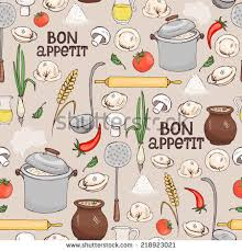 bon appetit kitchen collection kitchen sink kitchenware dishes mess stock vector 337125113