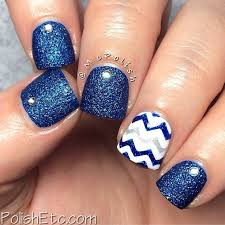 50 blue nail art designs short nails ring finger and finger