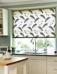 kitchen roller blinds patterned perfect in kitchen home design