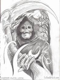 tribal grim reaper death tattoo design in 2017 real photo