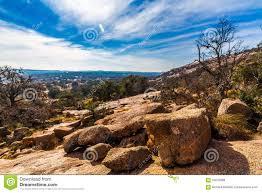 western landscape of enchanted rock texas stock photo image
