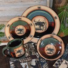 rustic cabin lodge dinnerware cabin place