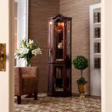 curio cabinet corner lighted curioet golden oaksmalletpulaski
