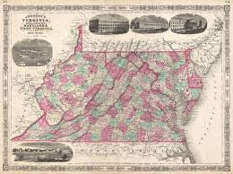 Maps Virginia by File 1866 Johnson Map Of Virginia West Virginia Maryland And