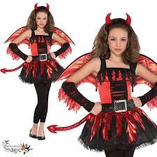 girls teen daredevil red devil halloween tween fancy dress costume