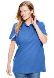 plus size tops polo shirts for within