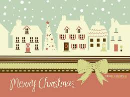 christmas card cute christmas town in winter wallpaper 1920