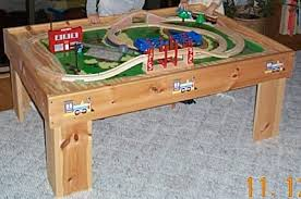 train table plans kids stuff daan set out to diy a wooden train table for his young