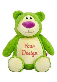 Engraved Teddy Bears Personalized Lime Green Teddy Bear Personalized Teddy Bears