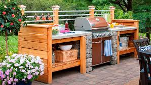 outdoor kitchen furniture 10 outdoor kitchen plans turn your backyard into entertainment