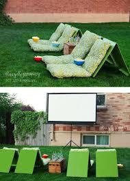 Do It Yourself Backyard Ideas by Best 25 Outdoor Movie Screen Ideas On Pinterest Outdoor Movie