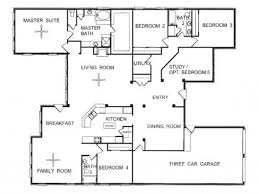 Single Level Floor Plans by One Story Floor Plans One Story Open Floor House Plans One Story