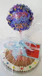 balloon and cookie delivery happy birthday cookie cake with stick balloon cookies tonight