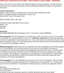 Veterinary Resume Sample by Vet Tech Cover Letter Vet Tech Cover Letter With Veterinary