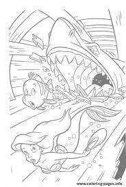 shark attacks ariel brimsby disney princess coloring pages