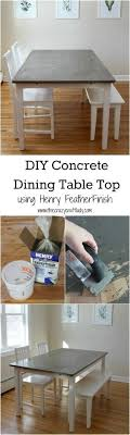 how to clean concrete table top diy concrete dining table top and dining set makeover concrete