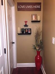 Big Floor Vases Home Decor by Cute Idea To Decorate The End Of A Hallway Floating Shelves