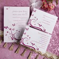 Purple Wedding Invitations Swarms Of Butterfly Wedding Invitation Inf057 Purple Wedding