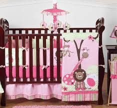 Pink And Green Crib Bedding Pink And Green Jungle Baby Bedding 9pc Crib Set Only 189 99