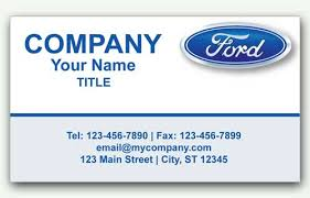 Sales Business Card Ford Auto Sales Business Card With Logo