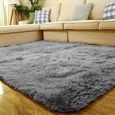 Area Rug Mat 80x120cm Fluffy Anti Skid Floor Mat Shag Area Rug Home Door