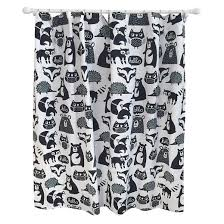 Black Grey And White Shower Curtain Forest Friends Shower Curtain Black Pillowfort Target