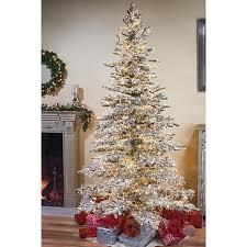 winter 7 1 2 flocked micro lights artificial tree 8500648