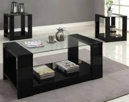 Piece Glass Coffee Table Sets Foter - Living room table set