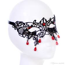 halloween cosplay mask black lace eye veil hollow costume