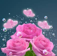 roses and hearts pink roses and hearts stock image image of floral decoration