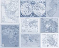 World Map Fabric by Fabric Yardage Instant Quilt With Many Maps Yardage Of Antique