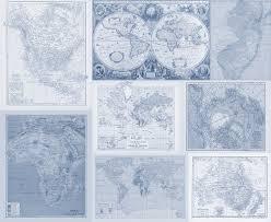 World Map Quilt Fabric Yardage Instant Quilt With Many Maps Yardage Of Antique