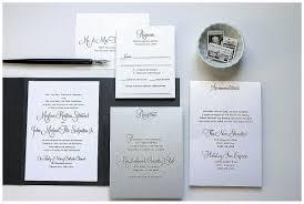 wedding inserts black and silver wedding invitations gourmet invitations