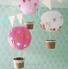 Whimsical Nursery Decor Whimsical Air Balloon Decoration Diy Kit Pink And Gold