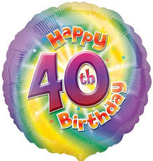 40th birthday balloons delivered colourful 40th birthday balloon delivered inflated in uk