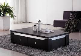 furniture oval contemporary white coffee table on dark grey fur