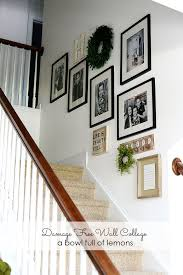 Staircase Wall Ideas Best 25 Stairway Wall Fair Decorating Staircase Wall Home Design