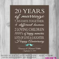 20th wedding anniversary gifts 20 year wedding anniversary gifts b93 on images gallery m47