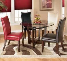 4 piece dining room set 5 piece round dining table set with 4 different color upholstered