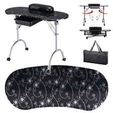 manicure nail table station black portable manicure nail table station desk spa beauty salon