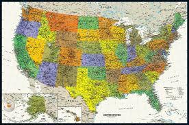 Mexico Wall Map Usa Tyvek Wall Map 50x33 Magna Carta Usa