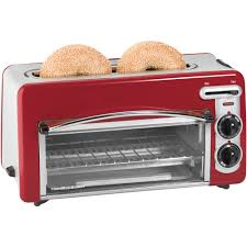 Toaster Glass Sides Hamilton Beach Toastation 2 In 1 2 Slice Toaster U0026 Oven In Black