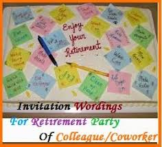 Retirement Invitation Wording Thank You Messages Retirement