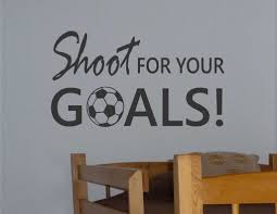 soccer ball shoot for goals vinyl wall lettering sports decal room decor sports vinyl wall lettering soccer ball shoot for your goals decal