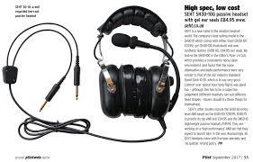 sh30 10f aviation headset twin plug seht quality aviation headsets