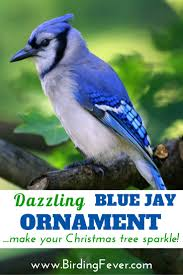 dazzling blue jay christmas ornament gift for bird lovers