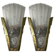 Wall Sconce Art Deco Pair Of French Art Deco Genet Et Michon Wall Sconces U2013 1 Of A Kind Nj